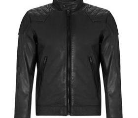 New Men's Laleta Black Leather Motorcycle Biker Bomber Jacket - Genuine Leather