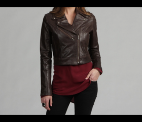 Premium Cowhide Brown Leather Jacket for Women