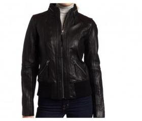 Hooded Style Handmade Leather Jacket for Women