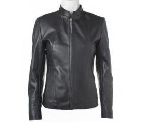 Classically Handmade Black Colored Leather Jacket for Women