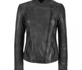 Hip and Mod Black Colored Handmade Leather Jacket for Women