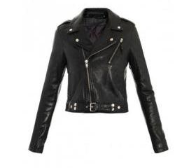 Fine Handmade Black Colored Leather Jacket for Women