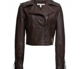 Edgy and Stylish Brown Biker Jacket made from Original Leather for Women