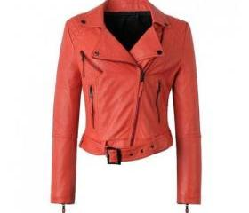 Classic Handmade Leather Jacket for Women