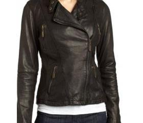 Original Women Black Zip up Biker Leather Jacket