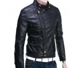 Mod and Handmade Black Brando Biker Leather for Men